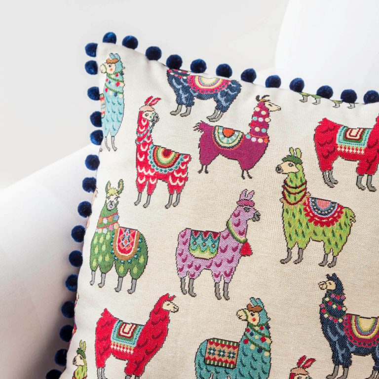llama & Alpaca print cushion - love your lounge