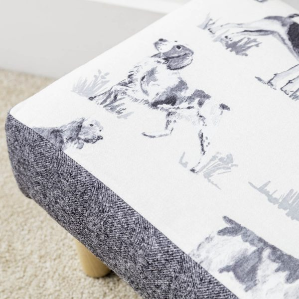 gun dog print footstool - - Love Your Lounge