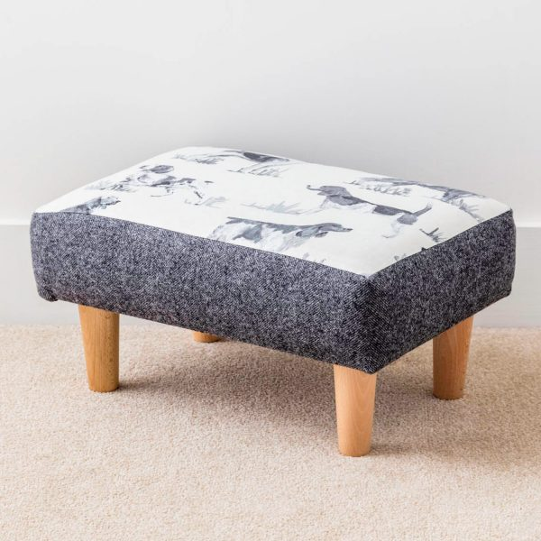 gun dog print footstool - Love Your Lounge