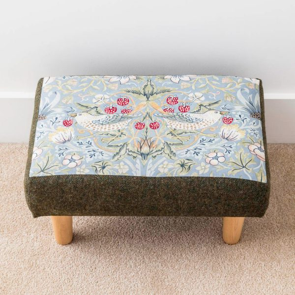 William Morris the strawberry thief print footstool - Love Your Lounge