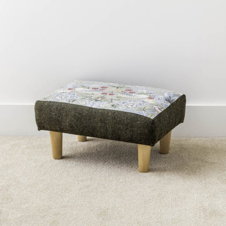 William Morris The Strawberry Thief footstool - Love Your Lounge