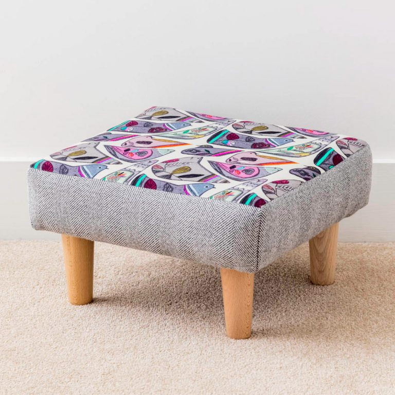 bird print footstool - Love Your Lounge