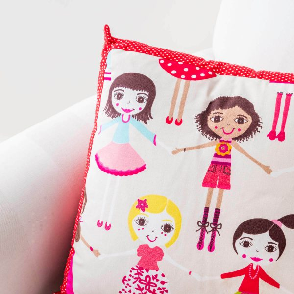 doll print childrens cushion - love your lounge