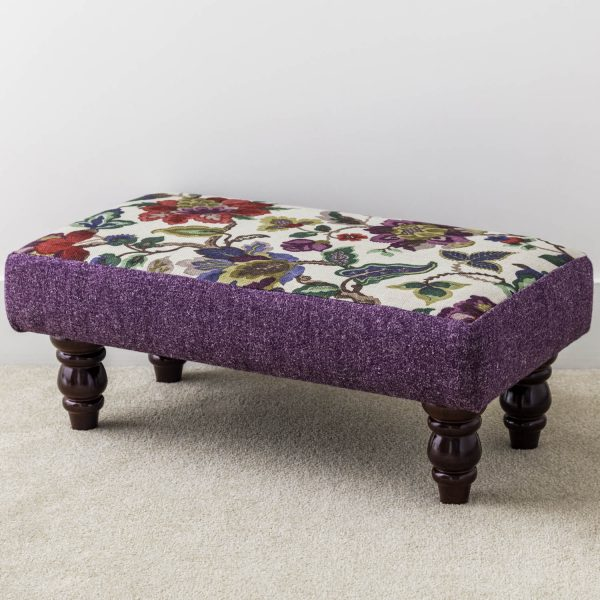 floral print footstool - Love Your Lounge
