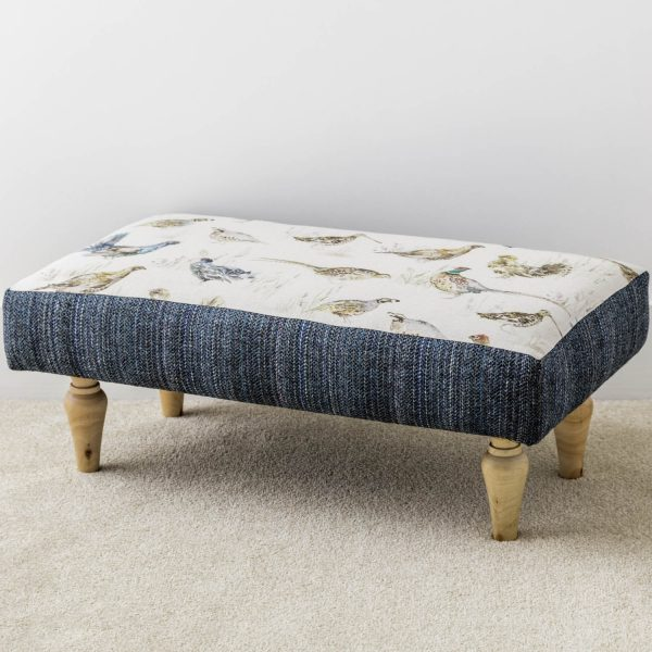 game bird print footstool - Love Your Lounge
