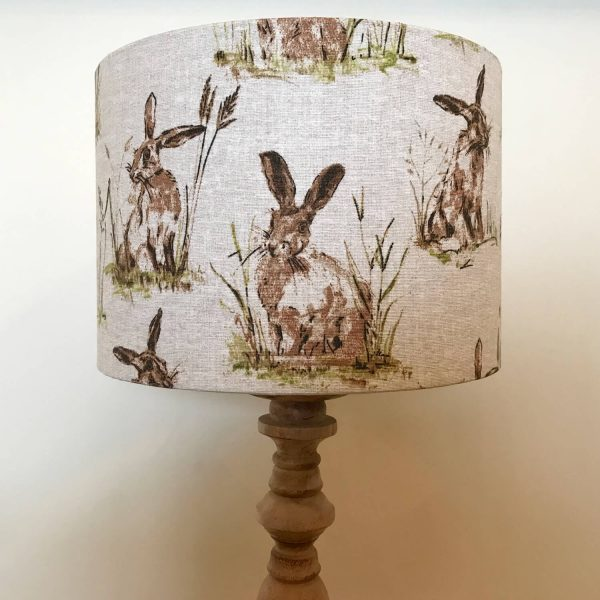 hares / rabbit print lamp shade - Love Your Lounge