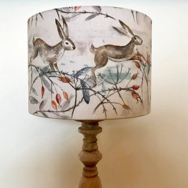 voyage material hares running print lamp shade - Love Your Lounge