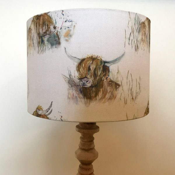 highland cow print lamp shade - Love Your Lounge