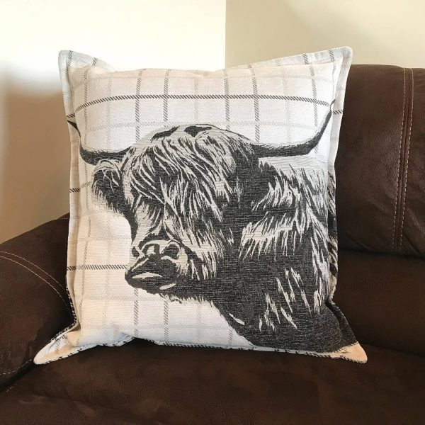 highland cow cushion - Love Your Lounge
