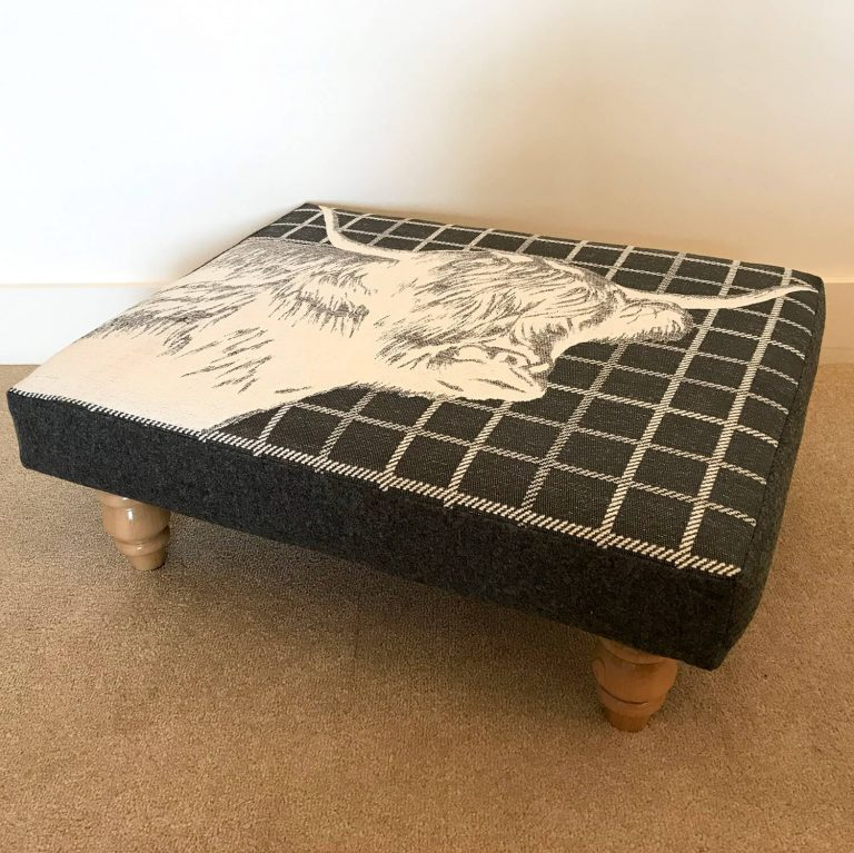 highland cow footstool - Love Your Lounge