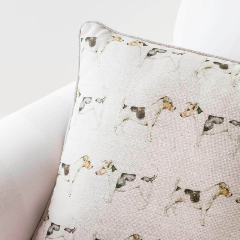 Jack Russell Dog Print Cushion - Love Your Lounge