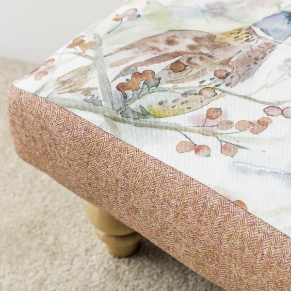 voyage material pheasant print footstool - Love Your Lounge