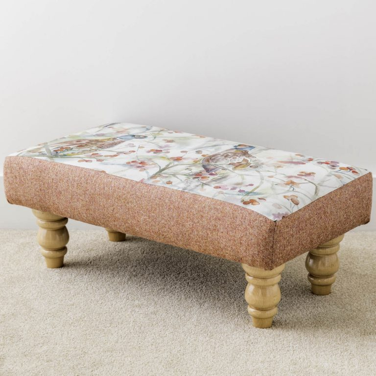 voyage print footstool - Love Your Lounge
