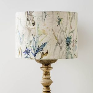 voyage material hare print lamp shade - Love Your Lounge