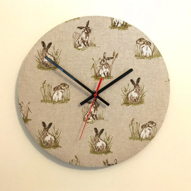 hare / rabbit material clock - Love Your Lounge