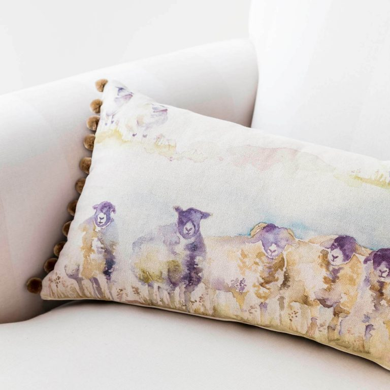 'come by' sheep voyage cushion - love your lounge