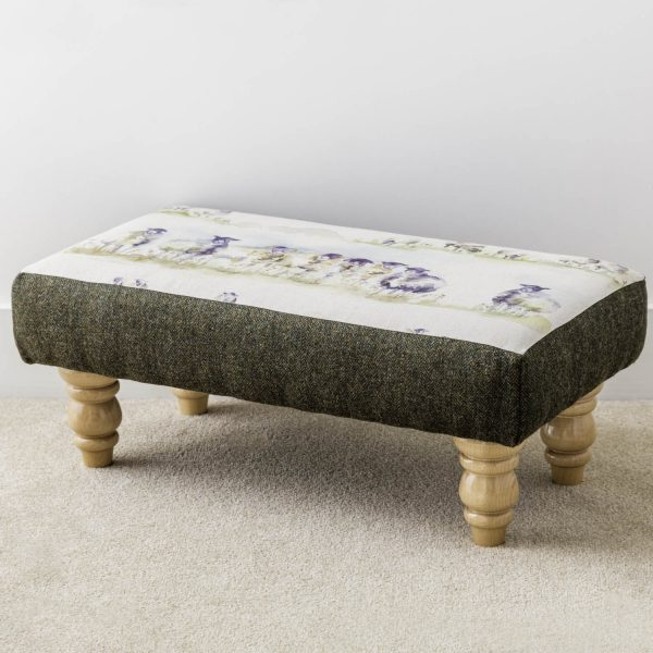 'come by' voyage print footstool - Love Your Lounge