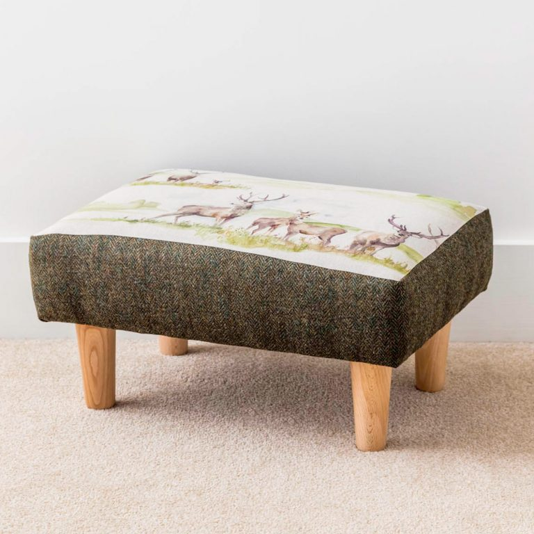 voyage material stag and tweed footstool -- Love Your Lounge