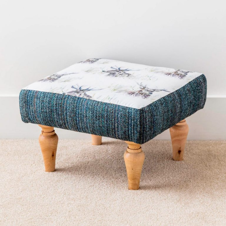 stag head print footstool - Love Your Lounge