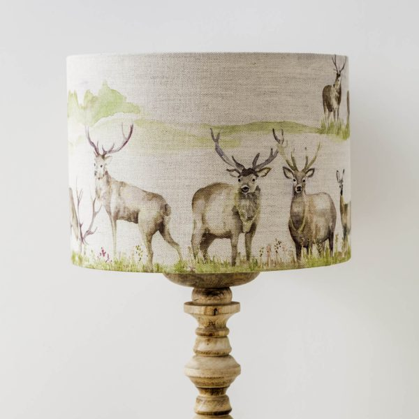 voyage material stag print lamp shade - Love Your Lounge