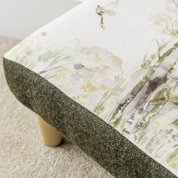 voyage material stag print footstool - Love Your Lounge