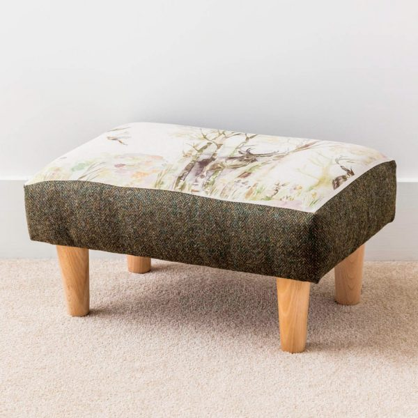 voyage material stag print footstool - - Love Your Lounge
