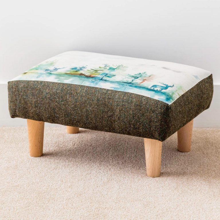 voyage material wilderness print footstool - Love Your Lounge