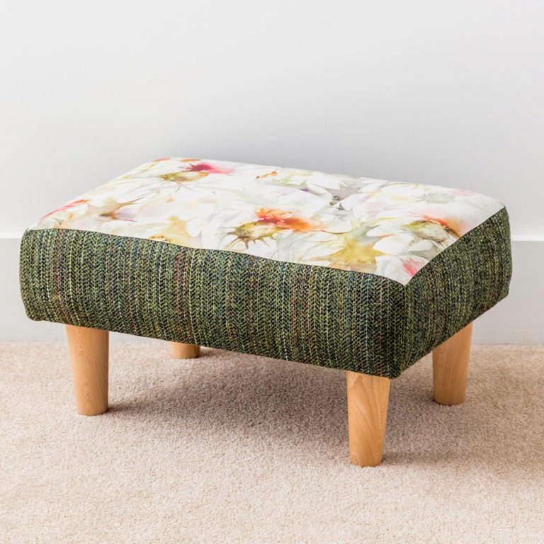 cirsiun thistle voyage material footstool - Love Your Lounge
